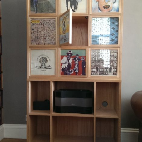 Customisable Vinyl Artwork Holder on Storage Unit