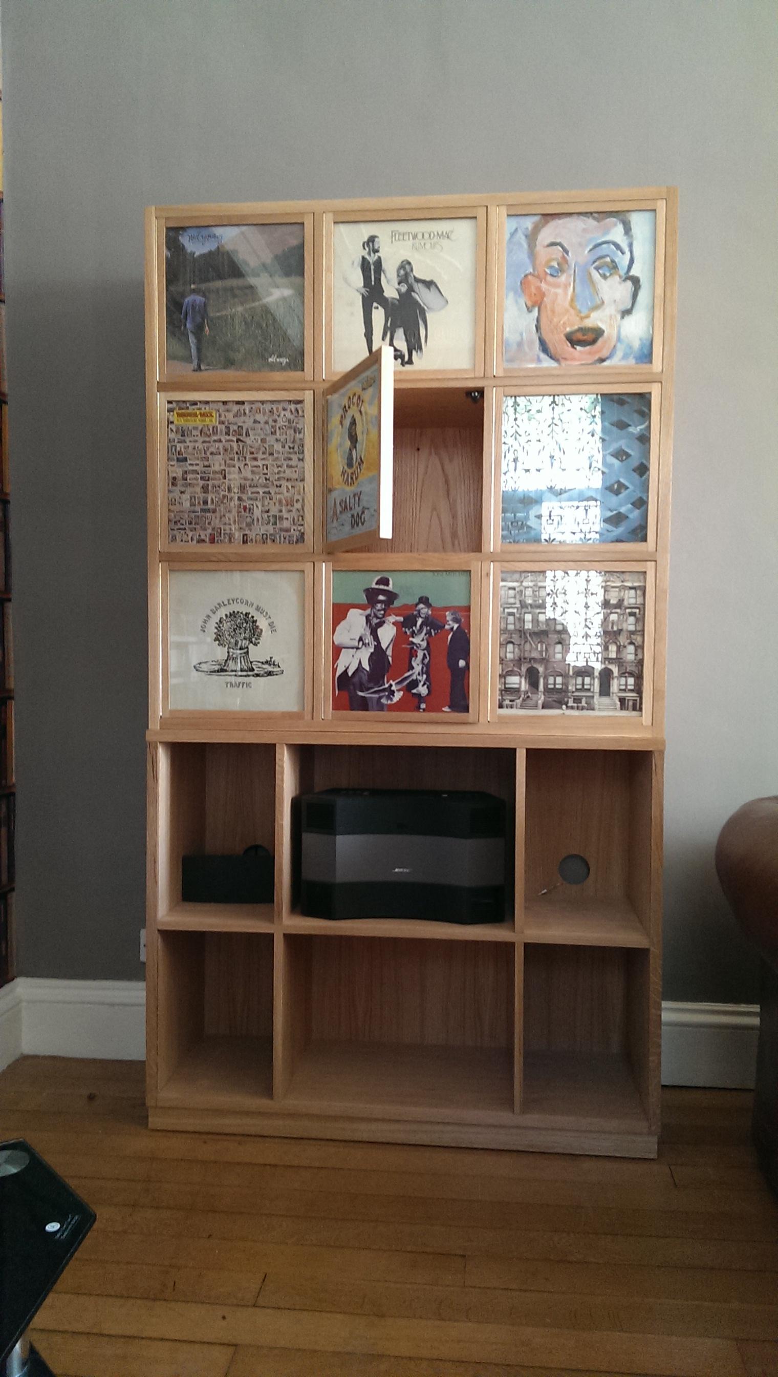 Custom Vinyl Artwork Holder Storage