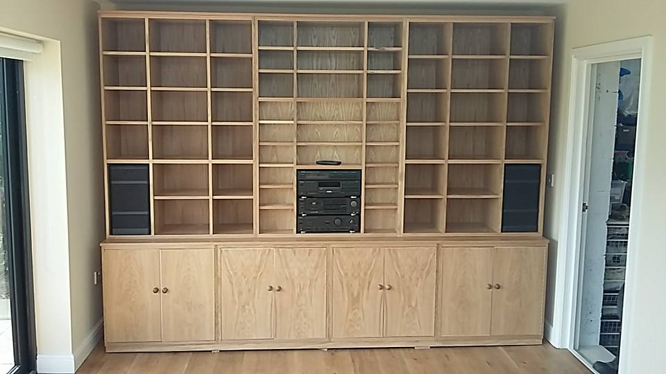 huge 10 foot long custom storage unit design and build by Ian Edwards Furniture