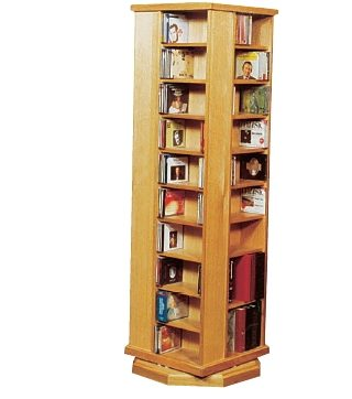 the mini wizard, book shelving, DVD and CD Shelves